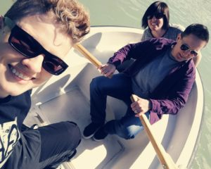 Queer Pack Team in a Boat